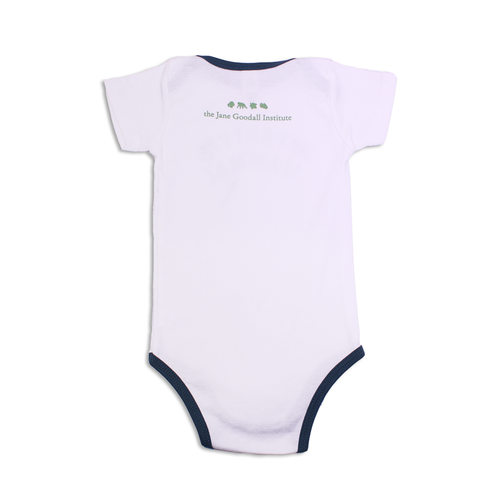 Jane Goodall Infant Party Mammal Onesie - Slate