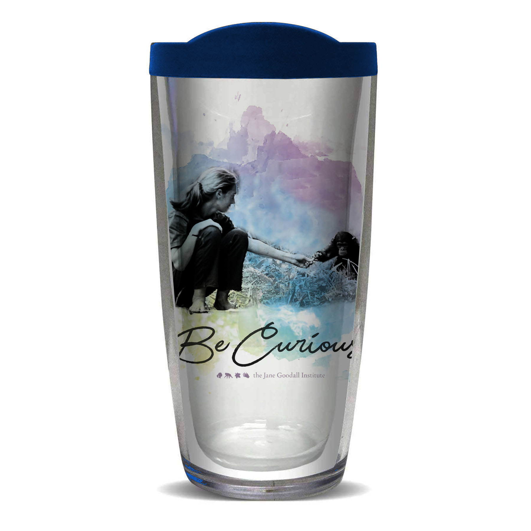 Jane Goodall Be Curious Travel Tumbler