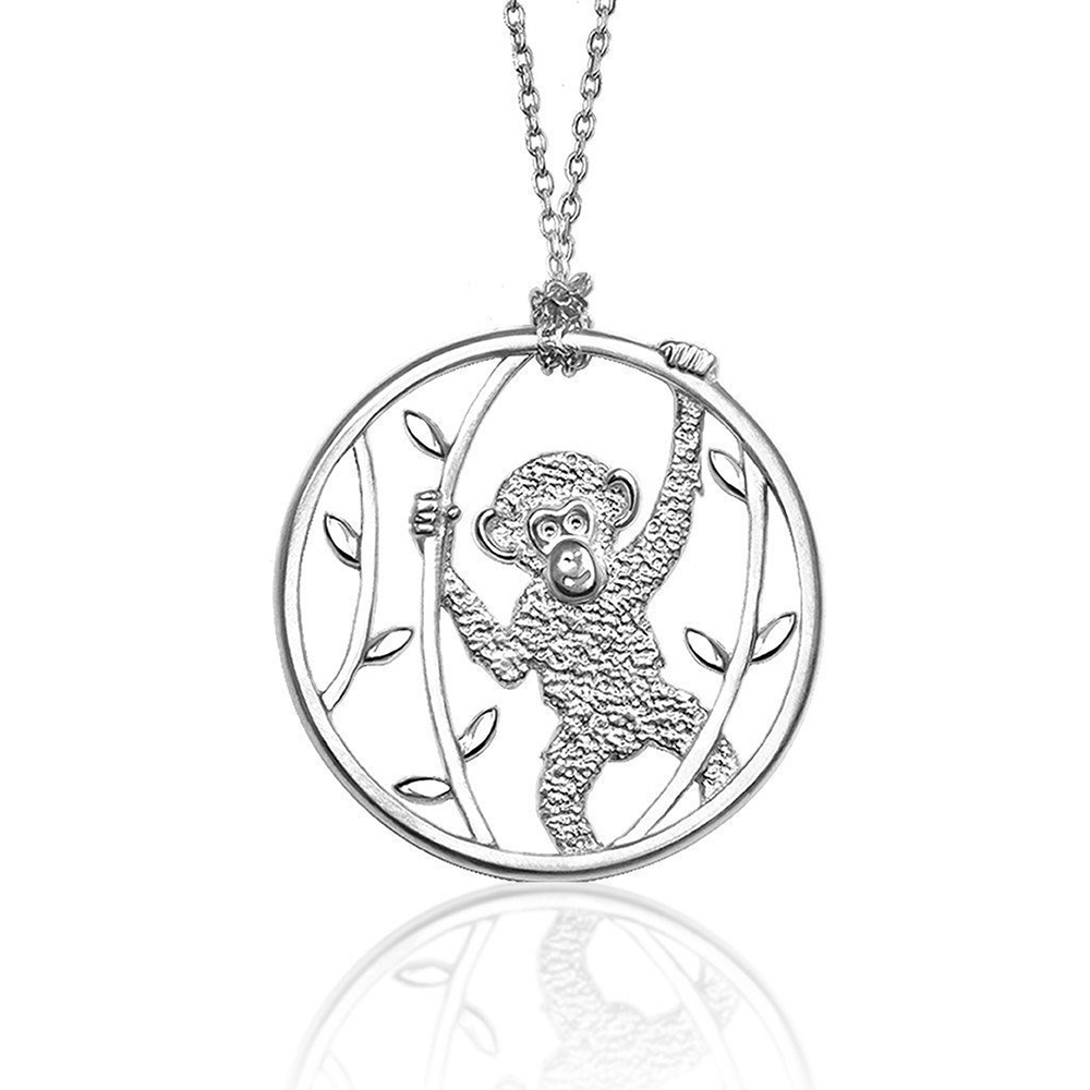 Alex Woo Chimpanzee Cut-Out Pendant