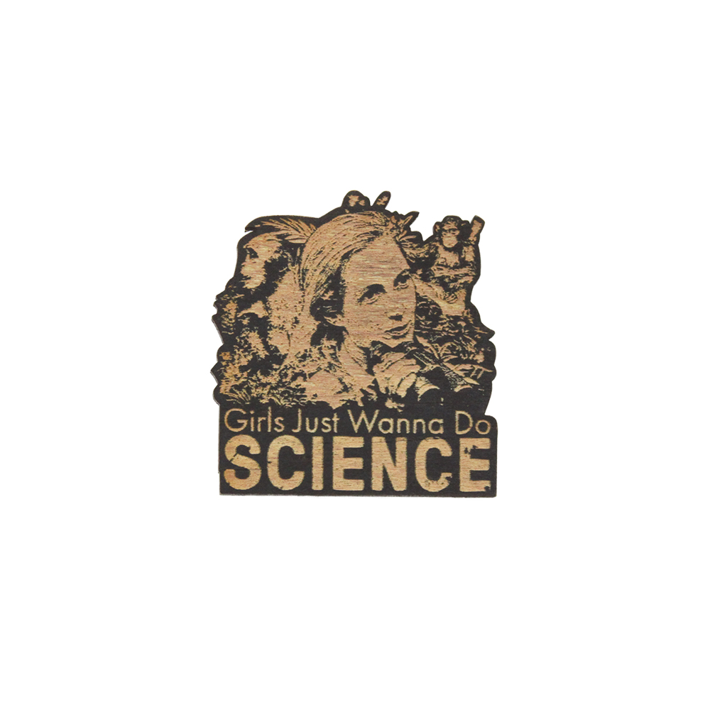 Jane Goodall Girls Just Wanna Do Science Wood Magnets