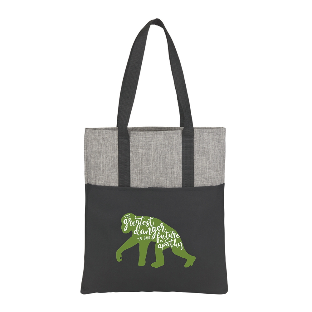 Apathy Quote Recycled Tote Bag