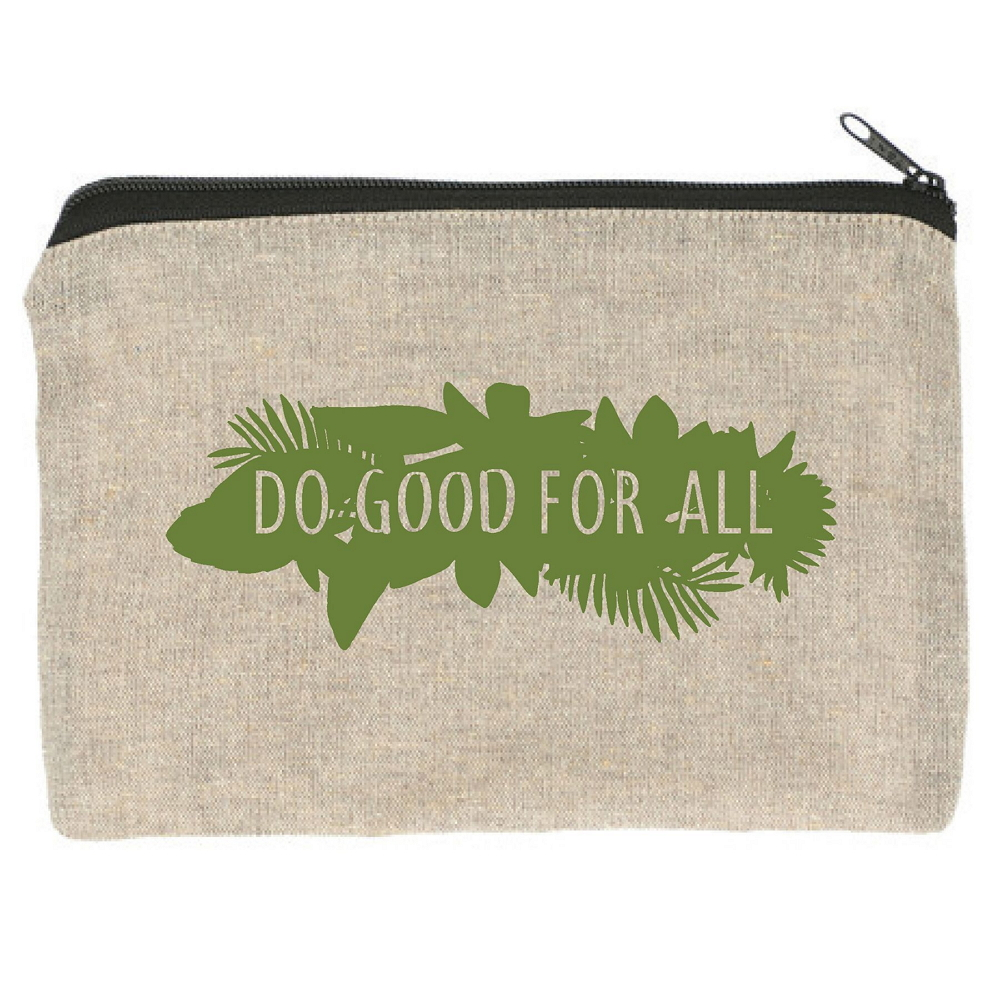 Do Good For All Recycled Zipper Pouch