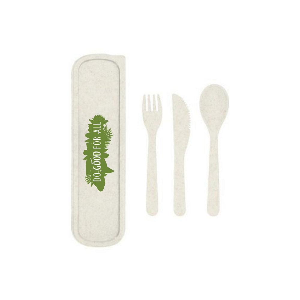 Do Good For All Wheatstraw Utensil Set