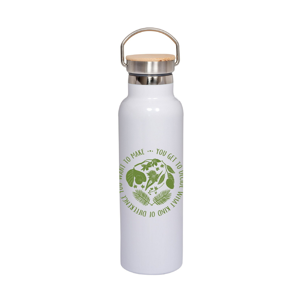 Make A Difference Quote Stainless Steel Water Bottle