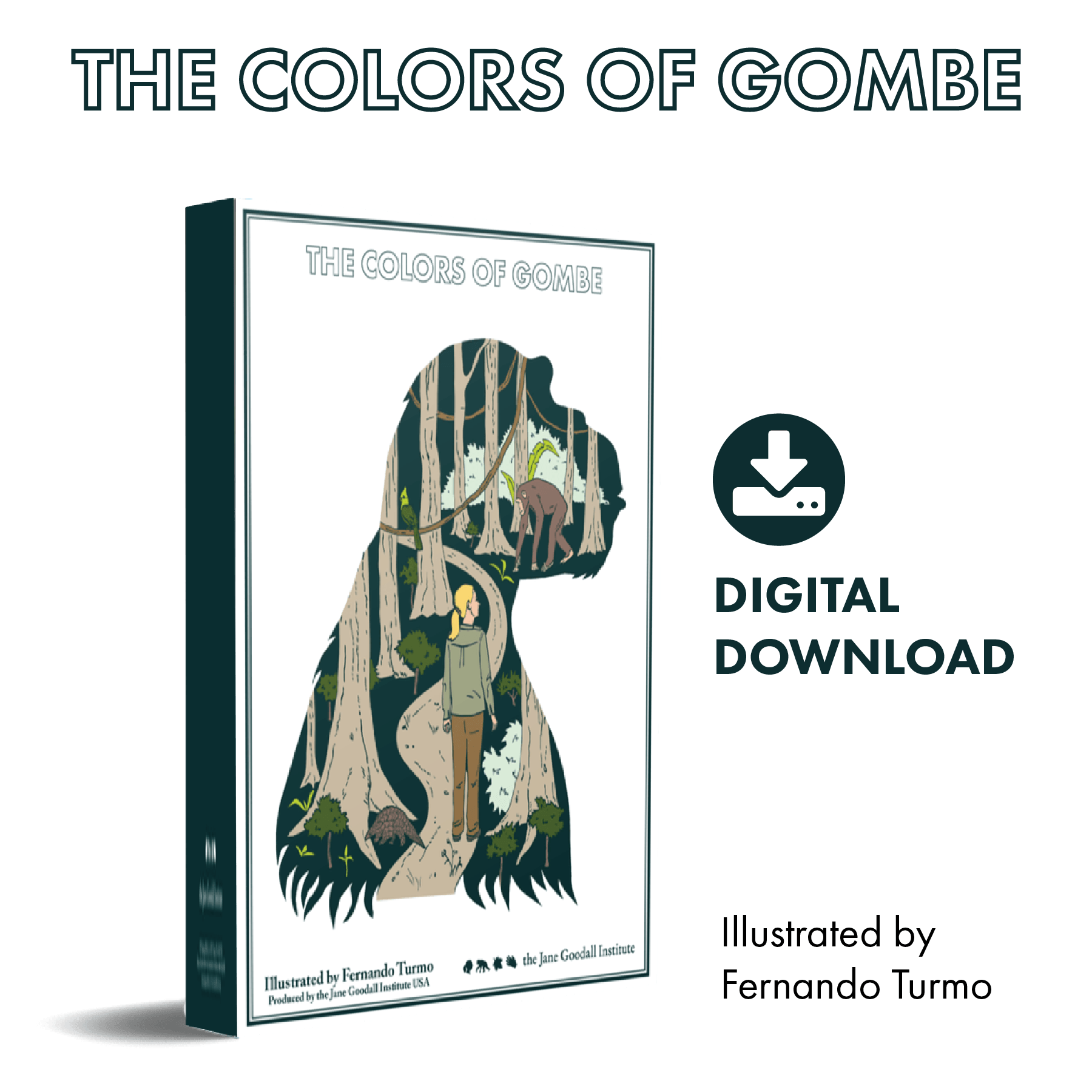 The Colors of Gombe Coloring Book - Digital Download