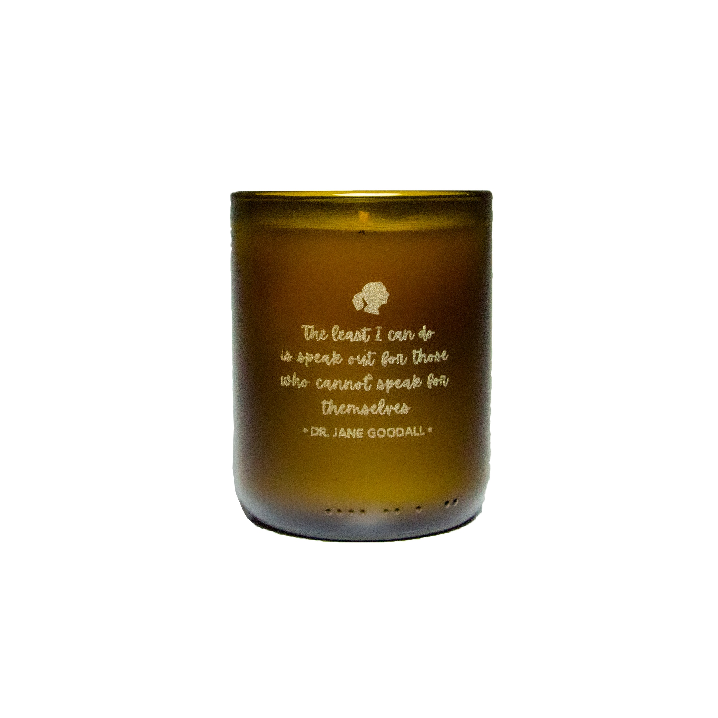The Least I Can Do Amber Quote Candle