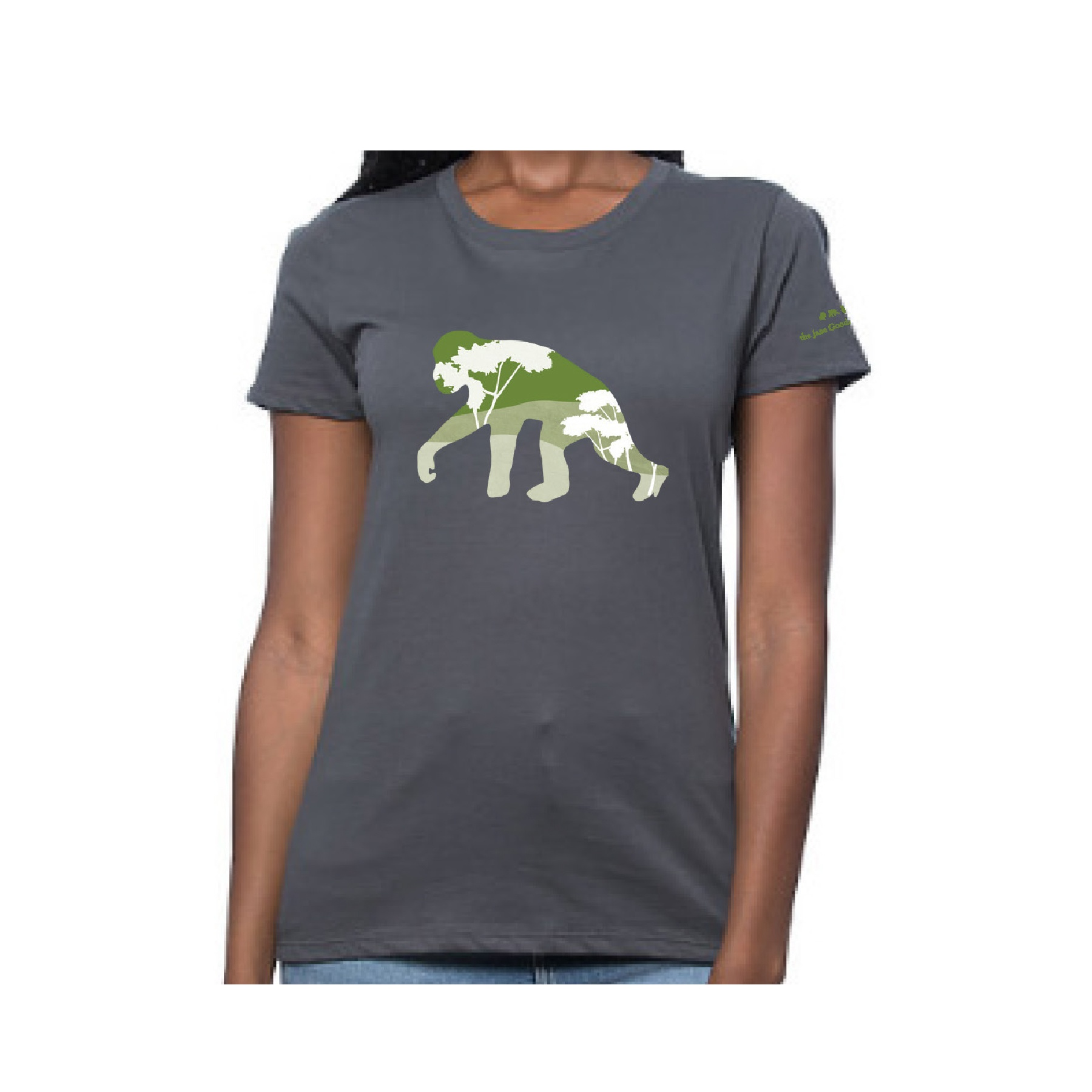 Topographic Chimp Womens T-shirt