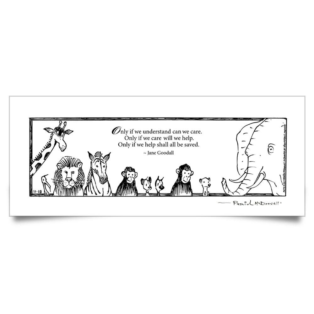 "MUTTS Print: ""Only If We Understand"" Quote (Signed)"