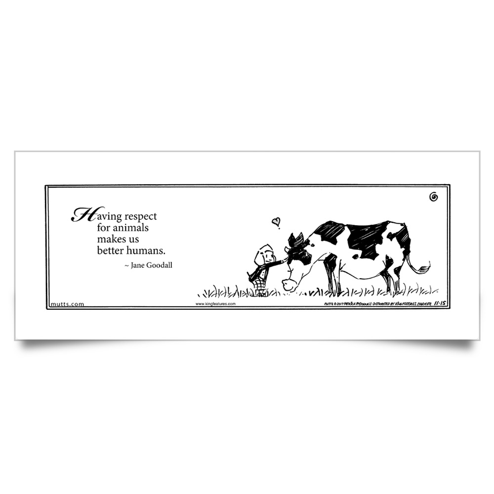 "MUTTS Print: ""Respect for Animals"""