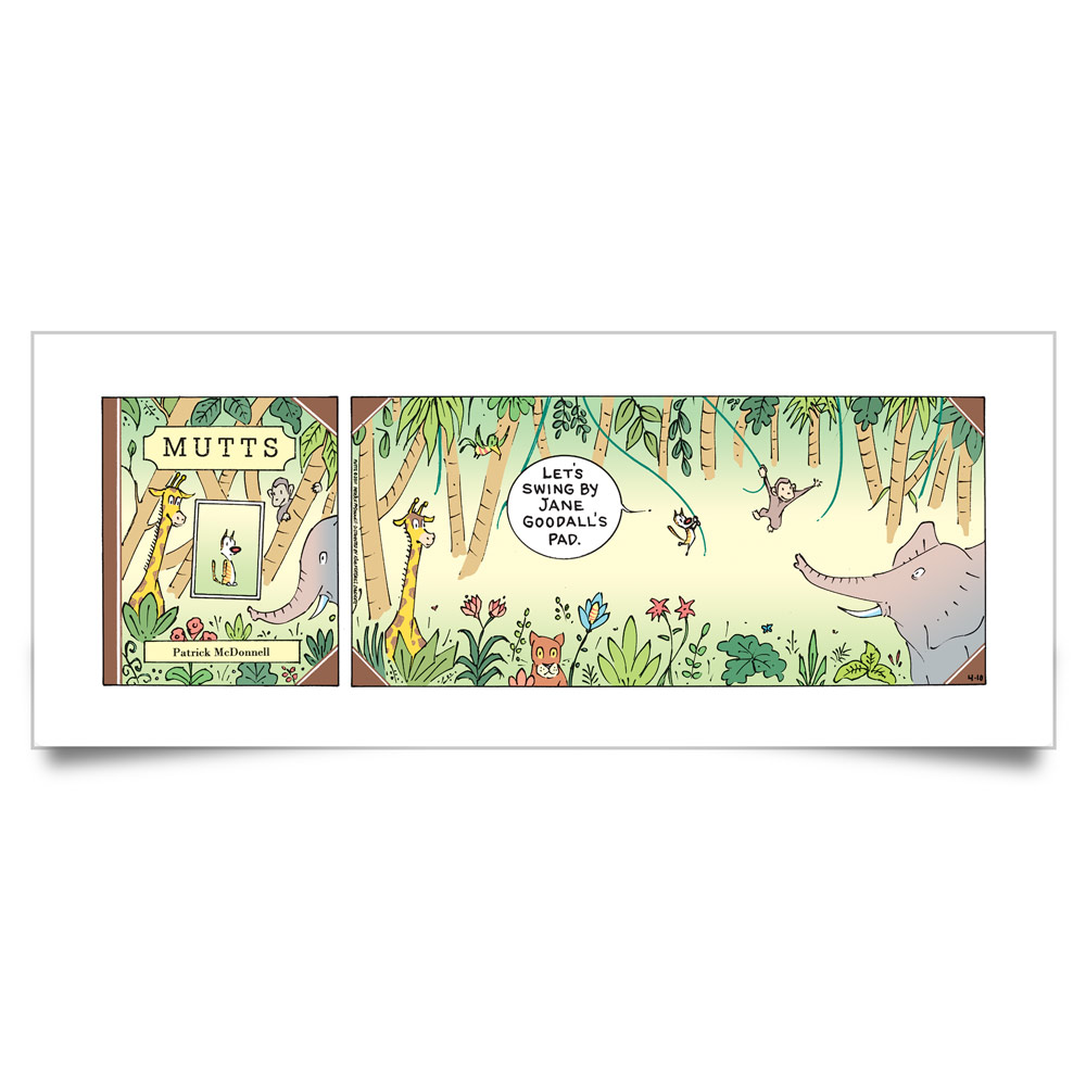 MUTTS Print: Swinging in Gombe