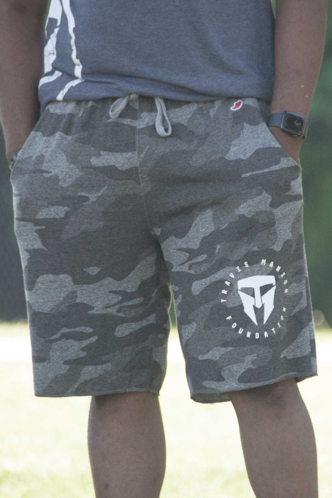 Camo Shorts with TMF Logo