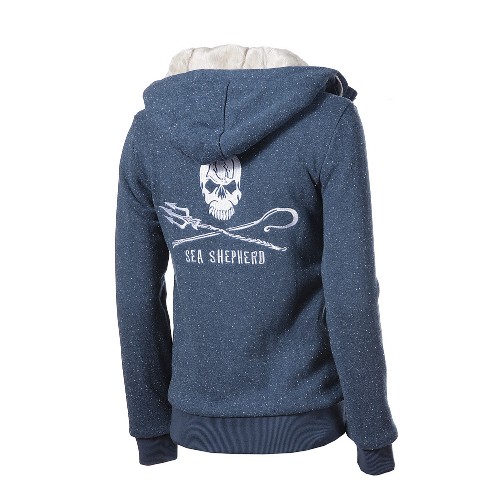 Ladies%27 Sea Shepherd Classic HoodLamb Furry Zip-Up Hoody