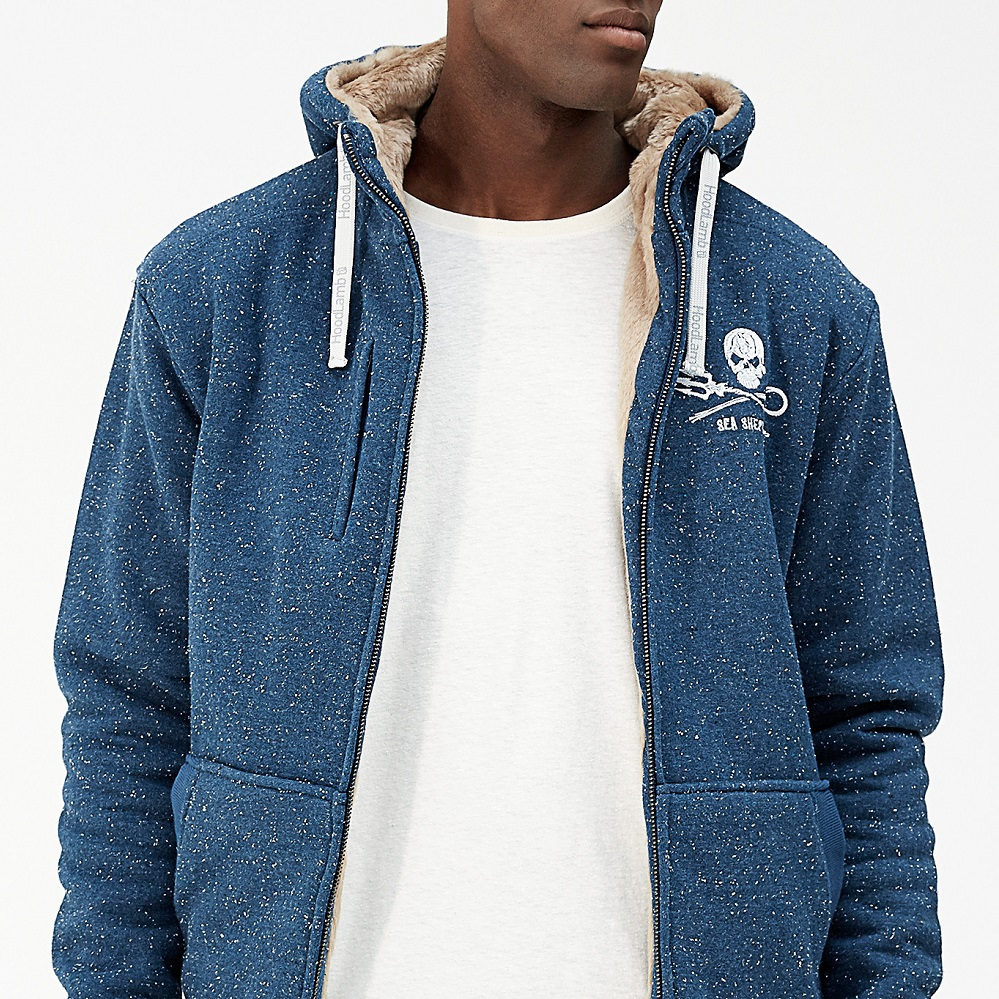 Men's Furry Hoody - MHT3-SEA