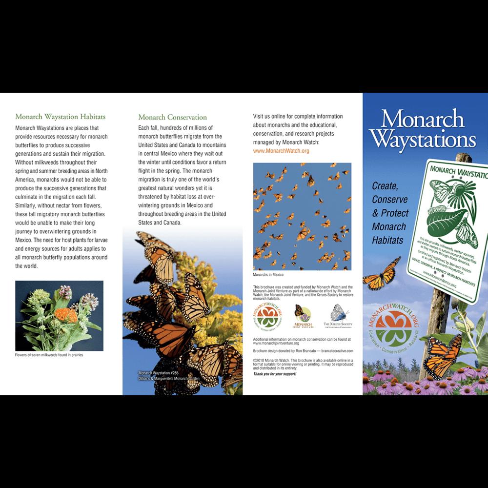Monarch Watch Waystation Brochure (Pack of 100) - MW-WSBROCHURE-100
