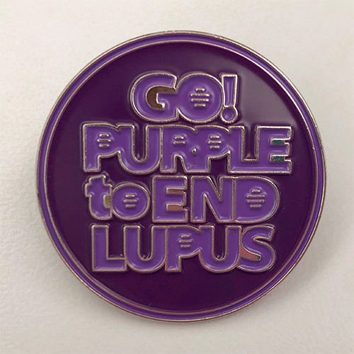 Lupus Foundation of America (LFA) Go Purple to End Lupus Pin (5 Pack)