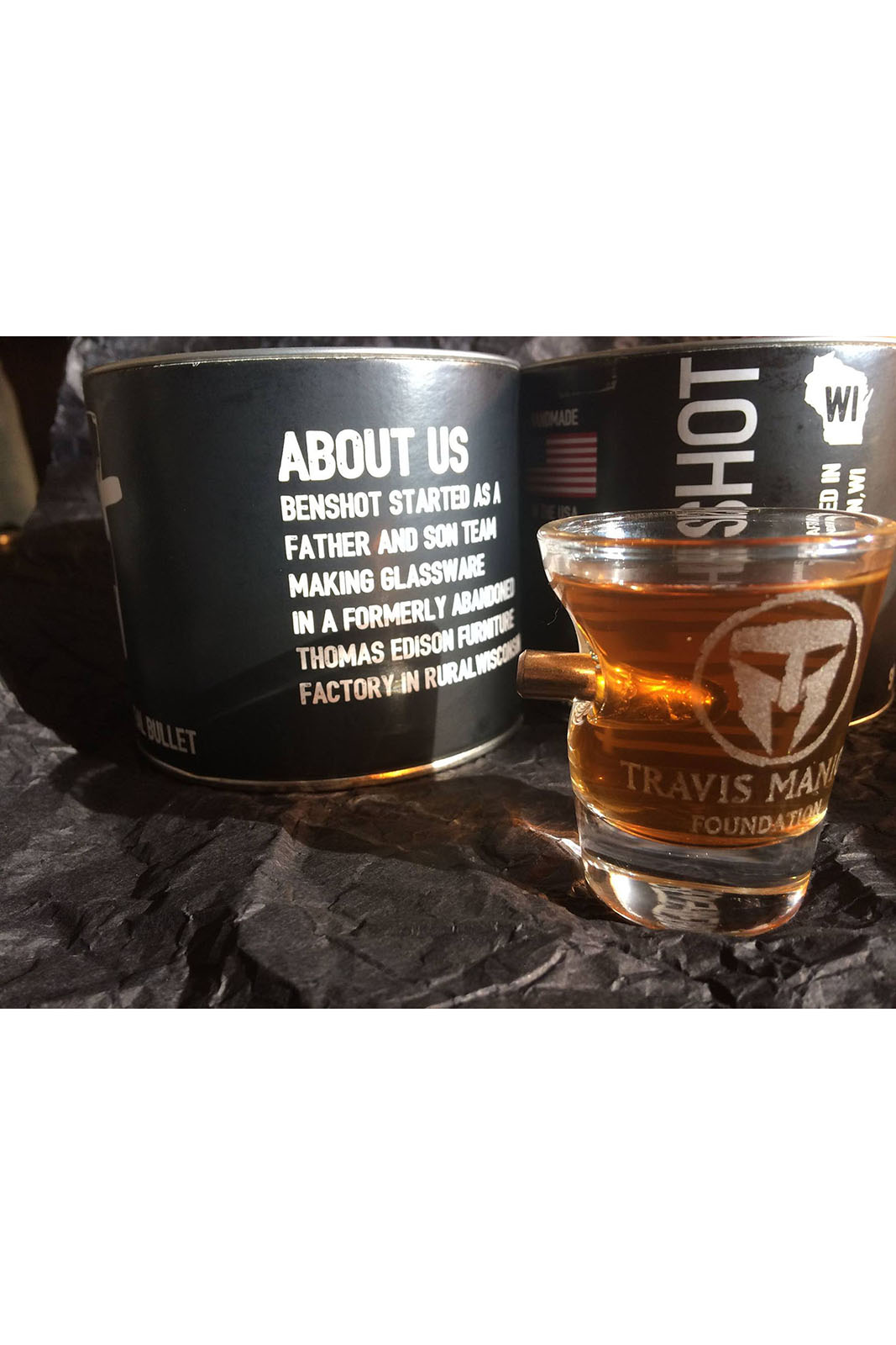 "Travis Manion Foundation ""Bulletproof"" Shot Glass"