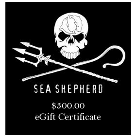 Sea Shepherd $300 eGift Certificate