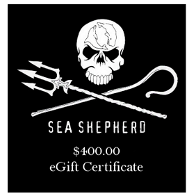 Sea Shepherd $400 eGift Certificate