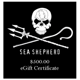Sea Shepherd $500 eGift Certificate