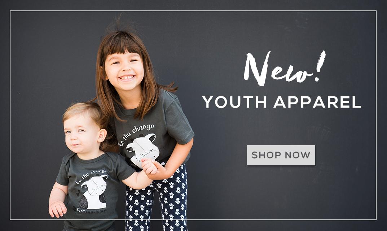 Shop Farm Sanctuary's Youth Apparel