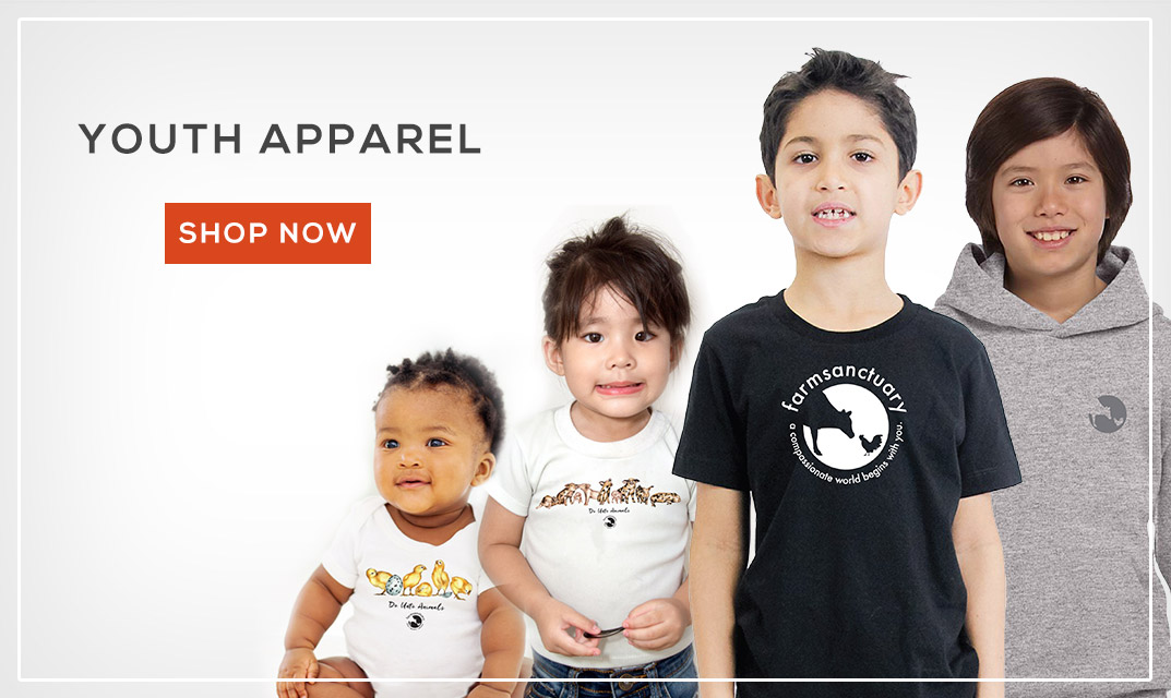 Shop Farm Sanctuary's Youth Apparel