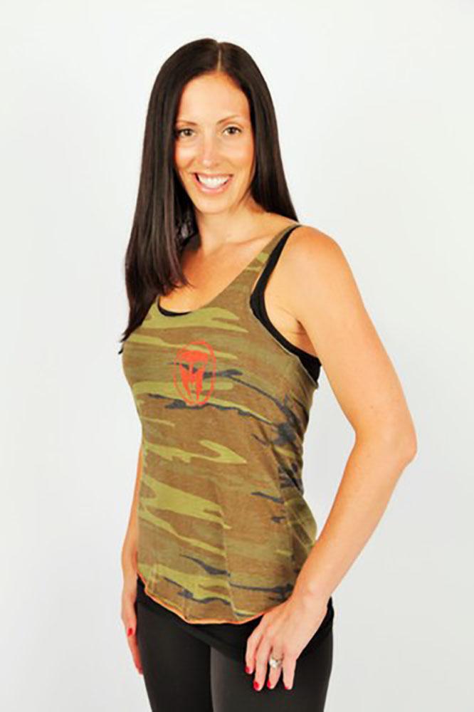 TMF Womens Printed Racer Tank