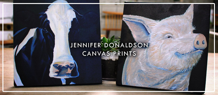Farm Sanctuary and Jennifer Donaldson Canvas Prints