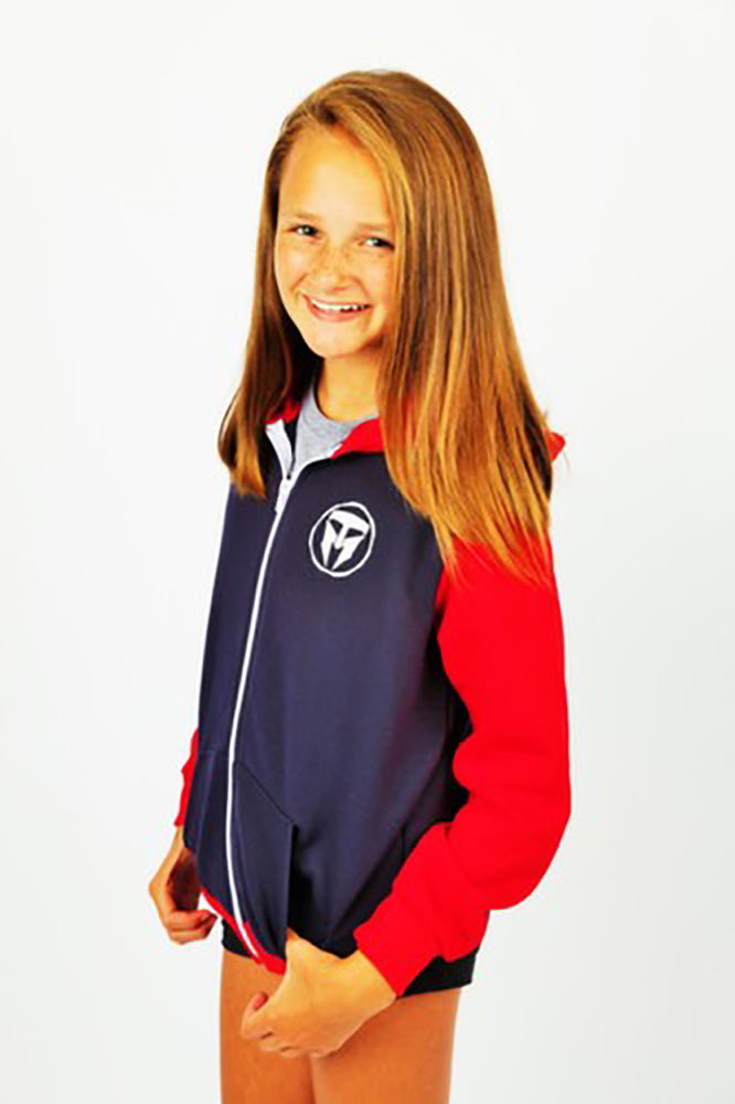 Unisex Youth TMF Logo Full Zip Hoodie Made in USA