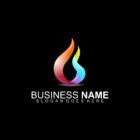 Colorful Fire Flame Logo