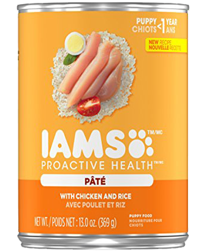 Picture of Iams ProActive Health Puppy with Chicken and Rice Pate - 13 oz.