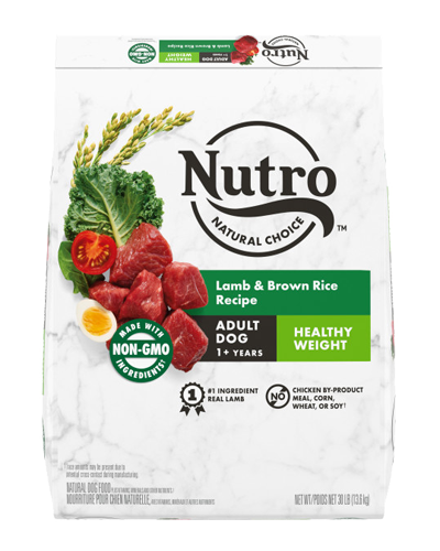 Picture of Nutro Wholesome Essentials Healthy Weight Adult Pasture-Fed Lamb & Rice - 30 lbs.