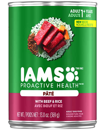 Picture of Iams ProActive Health with Beef and Rice Pate - 13 oz.