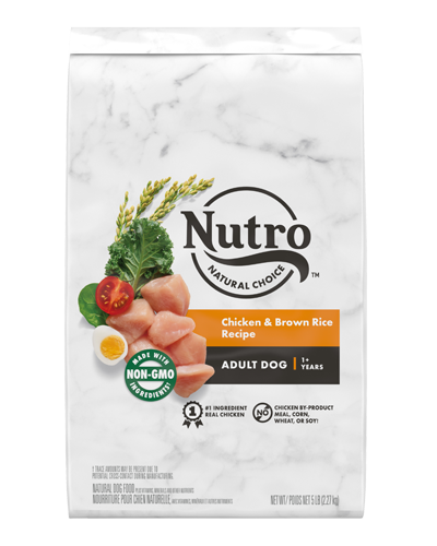Picture of Nutro Wholesome Essentials Adult Farm-Raised Chicken, Brown Rice, & Sweet Potato - 5 lbs.