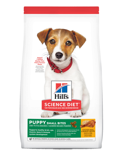 Picture of Hill's Science Diet Puppy Small Bites Chicken Meal & Barley Recipe Dry Dog Food - 4.5 lbs.