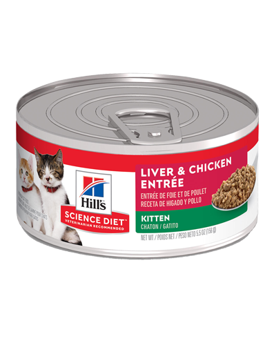 Picture of Hill's Science Diet Kitten Liver & Chicken Entrée Canned Cat Food - 5.5 oz.