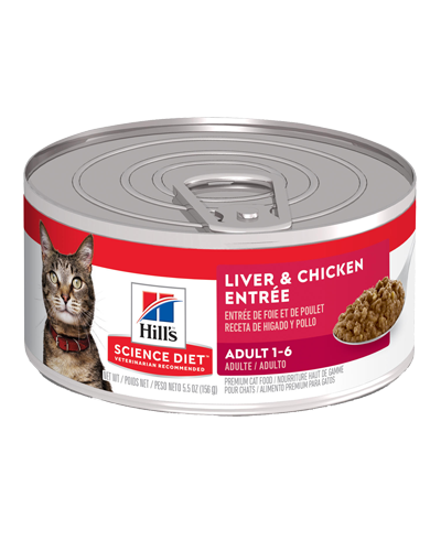 Picture of Hill's Science Diet Adult Liver & Chicken Entrée Canned Cat Food - 5.5 oz.