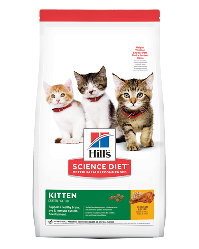 Picture of Hill's Science Diet Kitten Chicken Recipe Dry Cat Food - 7 lbs.