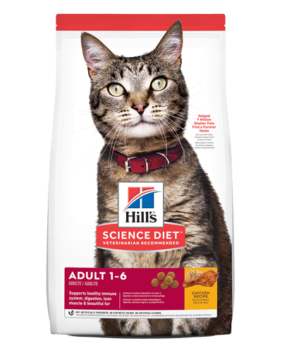 Picture of Hill's Science Diet Adult Chicken Recipe Dry Cat Food - 4 lbs.