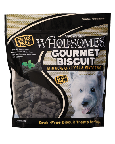 Picture of SPORTMiX Wholesomes Gourmet Biscuit Treats with Bone Charcoal & Mint Flavor - 1 lb.