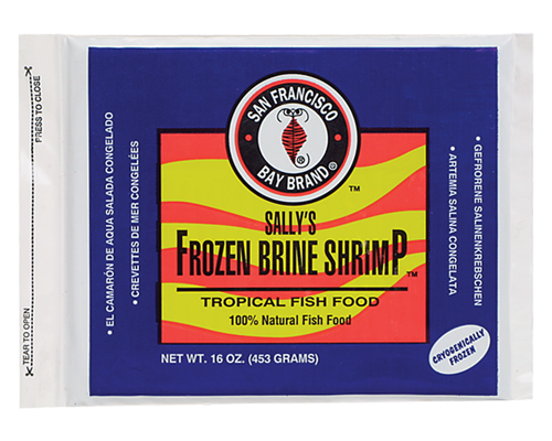 Picture of San Francisco Bay Brand Frozen Brine Shrimp Flat Pack - 16 oz.