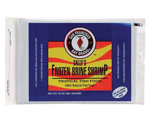 Picture of San Francisco Bay Brand Frozen Brine Shrimp Flat Pack - 32 oz.