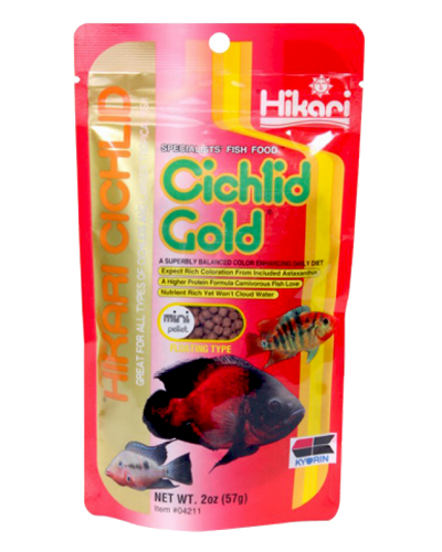 Picture of Hikari Cichlid Gold Mini Pellets - 2 oz.