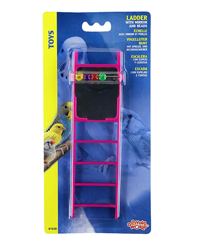 Picture of Living World Plastic Ladder with Mirror and Beads