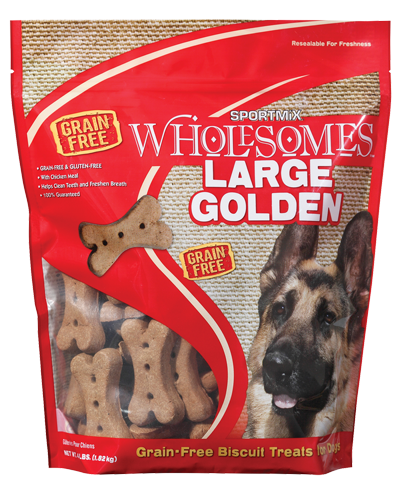 Picture of SPORTMiX Wholesomes Adult Golden Biscuit Treats for Large Dogs - 4 lb.
