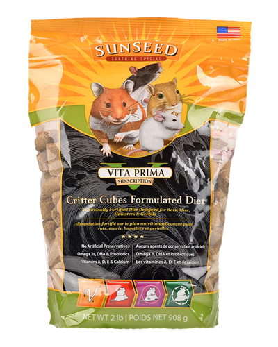 Picture of Sunseed Vita Prima Sunscription Critter Cubes Formulated Diet - 2 lb.