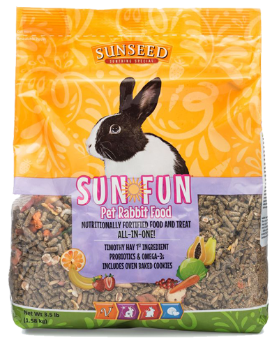 Picture of Sunseed Sun-Fun Pet Rabbit Food - 3.5 lb.