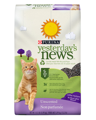 Picture of Purina Yesterday's News Softer Texture Unscented Litter - 13.2 lb.