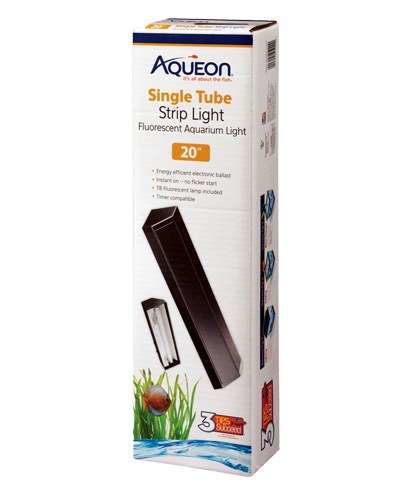 Picture of Aqueon Black T8 Fluorescent Strip Light - 20""