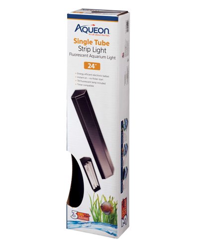 Picture of Aqueon Black T8 Fluorescent Strip Light - 24""