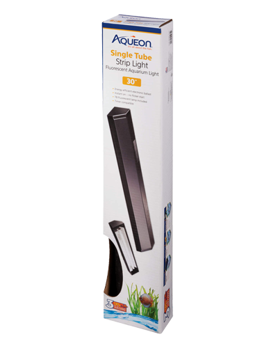 Picture of Aqueon Black T8 Fluorescent Strip Light - 30""